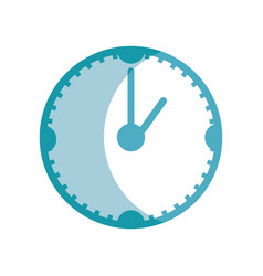 Silhouette clock to know the time of day vector