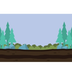 Silhouette of nature landscape game background vector