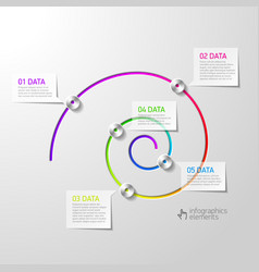 Spiral diagram infographics element vector image vector image