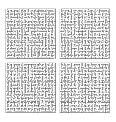 square labyrinth template maze puzzle game pattern vector image