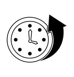 time clock wall with arrow vector image