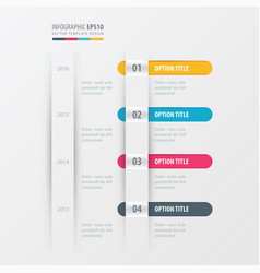 timeline design yellow blue pink color vector image vector image