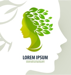 Woman profile beauty logo icon sign emblem vector