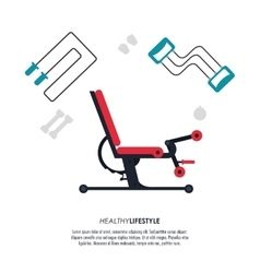 Machine and rope icon fitness design vector