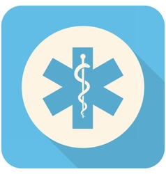 Star of life icon vector