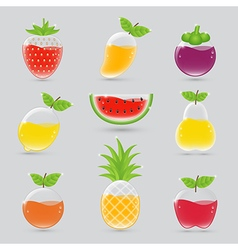 Fruit juice set vector