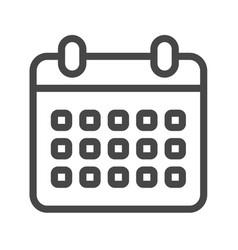 calendar thin line icon vector image