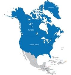 Nato in north america vector