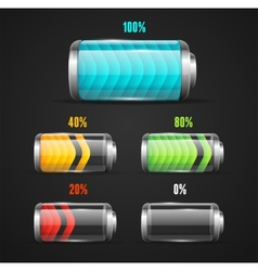Battery level indicator vector
