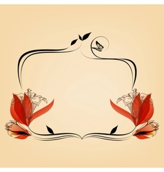 Cute elegant floral frame copy space for text vector image