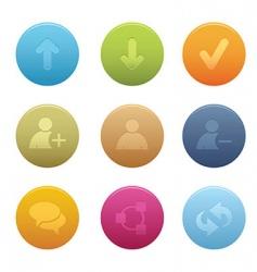 01 circle chat media icons vector image