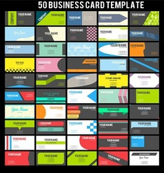 50 business card template vector
