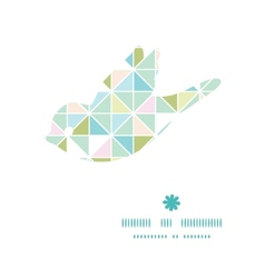 Colorful pastel triangle texture bird silhouette vector