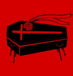 black coffin vector image