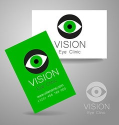 Vision eye clinic vector