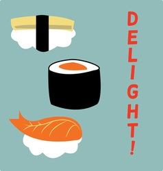 Sushi delight vector