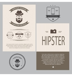 Vintage hipster design elements set vector image