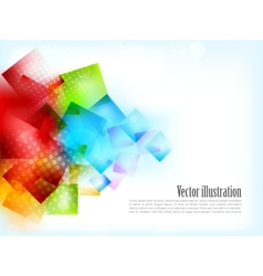 Abstract bright background with squares vector image vector image