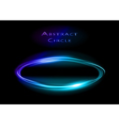 abstract circle on black blue vector image