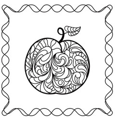 apple ontour black pattern in doodle style vector image vector image