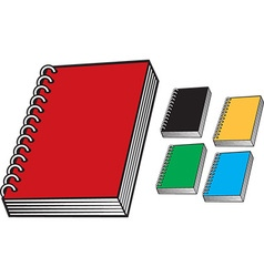 Bright notebook icon set vector