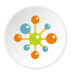 chemical and physical atoms icon circle vector image vector image