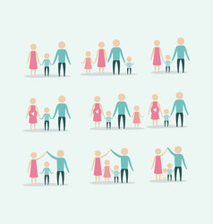 color background with silhouette set pictogram vector image
