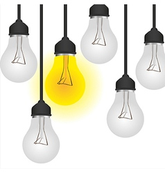 conceptual bulb isolated on white background vector image