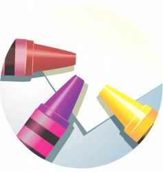 crayons and paper vector image vector image