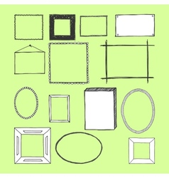 Hand drawn frames doodles isolated vector