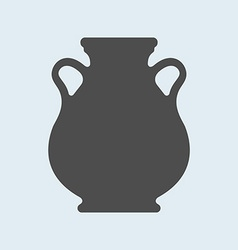 Icon of ancient antique vase or amphora pottery vector