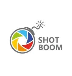 logo design combination of a camera shutter vector image