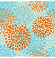 Modern seamless flowers pattern background vector