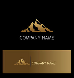 Mountain gold logo vector