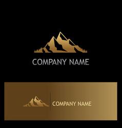 Mountain gold logo vector