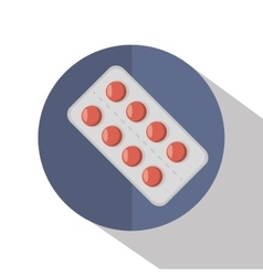 Pills medicals isolated icon vector