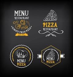 Pizza menu restaurant badges Food design template vector image vector image