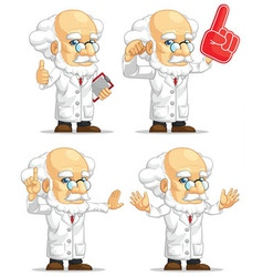 Scientist or professor customizable mascot 4 vector