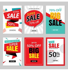 Set of sale website banner templates vector image vector image