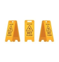 Set of wet floor sign vector