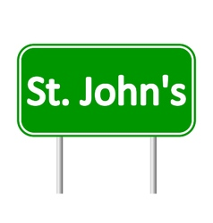 St johns road sign vector