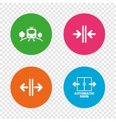 train railway icon automatic door symbol vector image