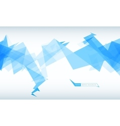 Trendy banner from abstract triangles vector