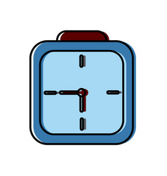 wall clock square deadline dial graphic vector image