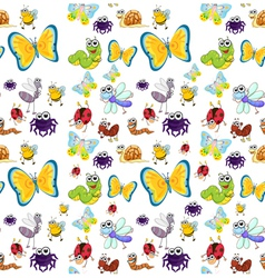 various insects vector image