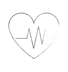 Heart cardiogram icon image vector