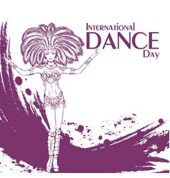 Dance day samba vector