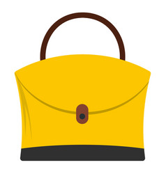 little woman bag icon isolated vector image