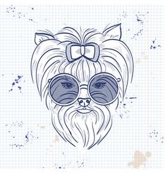 Color sketch of elegant dog vector