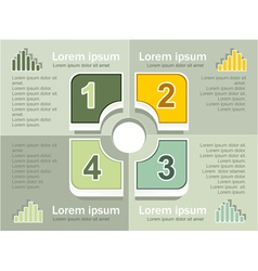 Infographics elements olive background vector